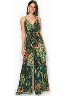 Macacão Pantalona Sonho De Selva Verde