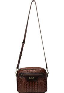 Bolsa Em Couro Recuo Fashion Bag Pinhão/Tabaco