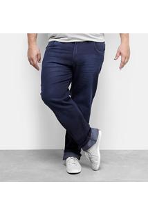 Calça Jeans Plus Size Preston Escura Masculina - Masculino