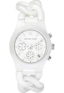 Relógio Michael Kors Branco Om Feminino - Feminino-Branco
