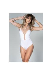 Body Bella Fiore Modas Com Tela Zion Branco