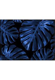 Jogo Americano Diferente, Criativo, Moderno | Folha Costela De Adão Azul - Tamanho 30 X 40 Cm