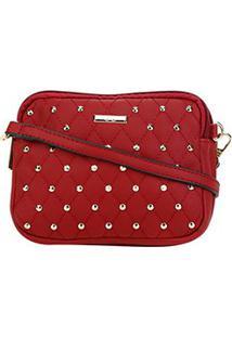 Bolsa Gash Mini Bag Mickey Quadrada Feminina - Feminino-Vermelho