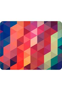 Tapete Geométrico Colorido- Azul Escuro & Vermelho- Wevans
