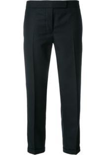 Thom Browne Calça Listrada Cropped - Azul