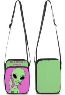 Mini Bolsa Marvs Bag Shoulder Transversal - Unissex-Verde
