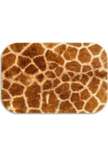 Tapete Decorativo Lar Doce Lar Animal 40Cm X 60Cm Marrom
