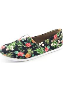 Alpargata Quality Shoes Feminina 001 Abacaxi Preto 36