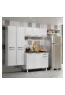 Cozinha Compacta Topázio Com Balcão 10 Pt 1 Gv Branca