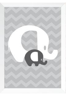Quadro Elefante Baby Chocolate Cinza