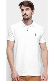 Camisa Polo Aleatory Piquet Masculina - Masculino-Branco