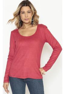 Blusa Lisa Acamurçada - Vermelho Escuromorena Rosa
