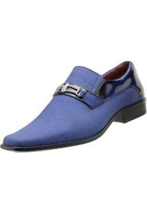 Sapato Goffer Social - Masculino-Azul