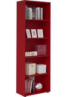 Estante Multy Para Livros E Objetos Vermelho Com 4 Prateleiras E 1 Nicho - Artely
