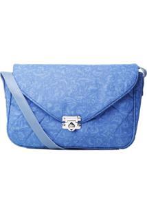 Bolsa Duccini Carteiro Arabesco Azul