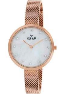 Relógio Oslo Ref: Ofrsss9T0002 B1Rx Feminino - Feminino-Rosê
