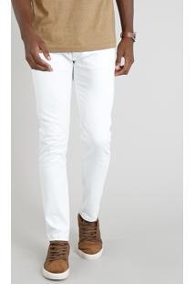 Calça Jeans Masculina Slim Branca