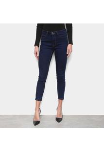 Calça Jeans Calvin Klein Super Skinny Feminina - Feminino-Marinho