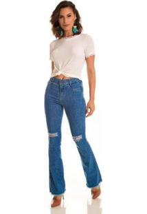 Calça Jeans Express Flare Laura - Feminino