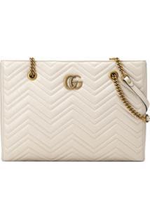 Gucci Gg Marmont Medium Tote Bag - Branco