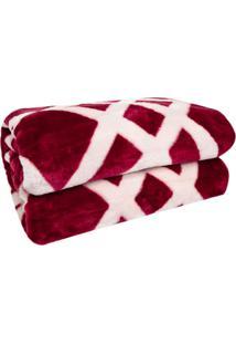 Cobertor Casal Corttex Home Design Riga Vinho