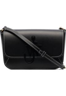 Jw Anderson Anchor Leather Shoulder Bag - Preto