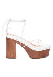 Sandália Feminina Bold Wood - Branco