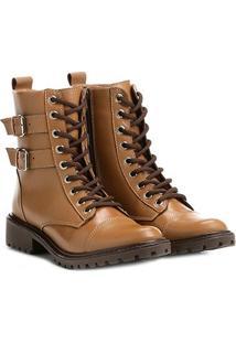 74b1c8add Shoestock. Bota Coturno Shoestock Fivelas Feminina ...