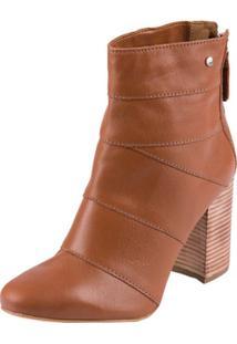 Bota Tanara Ankle Boot - Feminino-Caramelo