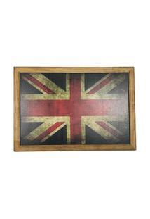 Quadro Decorativa Quarto Sala Madeira Bandeira Inglaterra