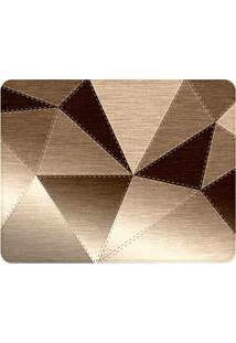 Tapete Metallic Cloth- Marrom Escuro & Bege- 125X90Cwevans