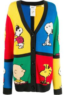 Chinti & Parker Cardigan Peanuts Color Block - Azul