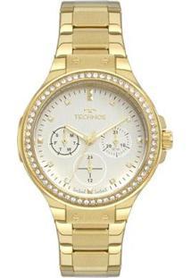 Relógio Technos Ladies Feminino - Feminino-Dourado