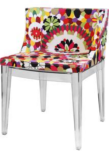 Cadeira Christie Rosa (Base Transparente)