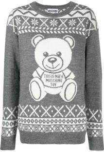 Moschino Suéter 'Teddy Bear' - Cinza