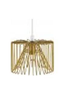 Luminária Lustre Pendente 14X12X14Cm Metal Dourado