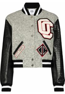 Opening Ceremony Jaqueta Bomber Cropped - Cinza
