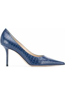 Jimmy Choo Scarpin Love Com Salto 85Mm - Azul