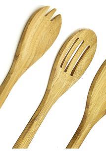 Jogo De Talheres Tramontina Bamboo 4 Peças Marrom