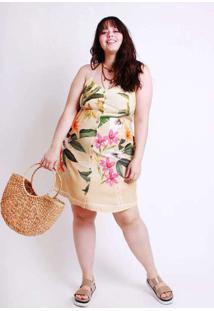 Vestido Almaria Plus Size Munny Curto Estampado Be