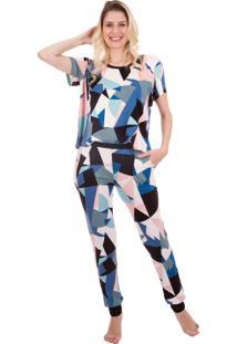 Pijama Feminino Inspirate Color Block