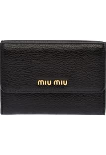 Miu Miu Carteira Color Block - Preto