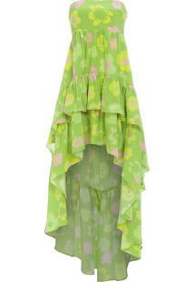 Vestido Babados - Verde