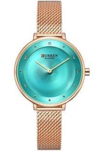 Relógio Curren Analógico C9029L - Feminino-Rose Gold