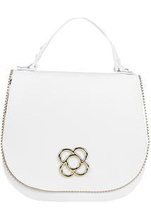 Bolsa Petite Jolie Mini Bag Saddle Feminina - Feminino-Branco