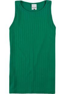 Blusa Verde Em Viscose Canelada