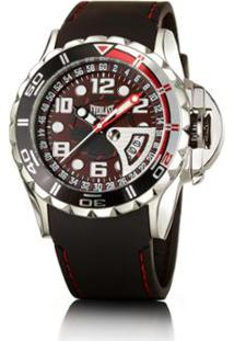 ff2a33c4625 ... Relógio Masculino Everlast Pulseira Silicone Analógico - Masculino-Preto +Vermelho