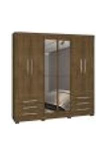 Guarda Roupa Casal 06 Portas Londres Malbec Com Espelho Inc Milani Store