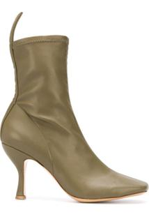 Gia Couture Ankle Boot Soraya Com Bico Quadrado - Verde