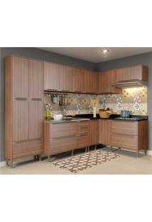 Cozinha Completa Multimóveis Com 6 Peças Calábria 5462 Nogueira